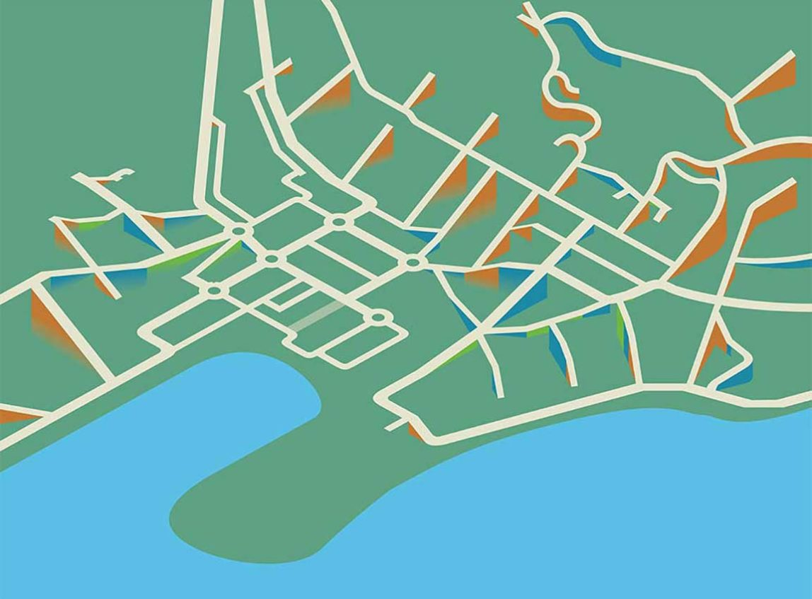 Queenstown steepness of streets map work in progress